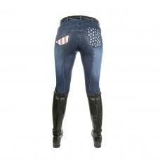 Бриджи джинсовые с полной леей Stars&Stripes, HKM