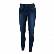 Бриджи женские джинсовые для верховой езды с полной леей Darjeen Grip, Pikeur