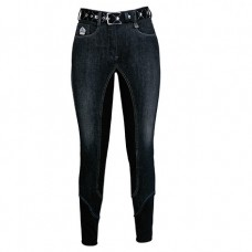 Бриджи джинсовые для верховой езды с полной замшевой леей Jenny, Fair Play