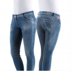 Бриджи женские джинсовые для верховой езды с полной леей Nufola, Animo