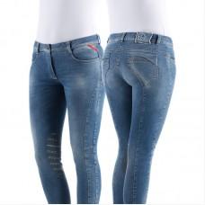 Бриджи женские джинсовые для верховой езды с коленной леей Nullo, Animo